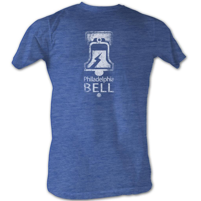 World Football League WFL Bell White Royal Heather Adult T-Shirt