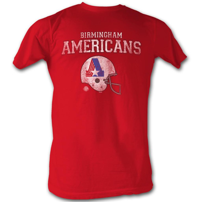 World Football League WFL Americans Cherry Heather Adult T-Shirt
