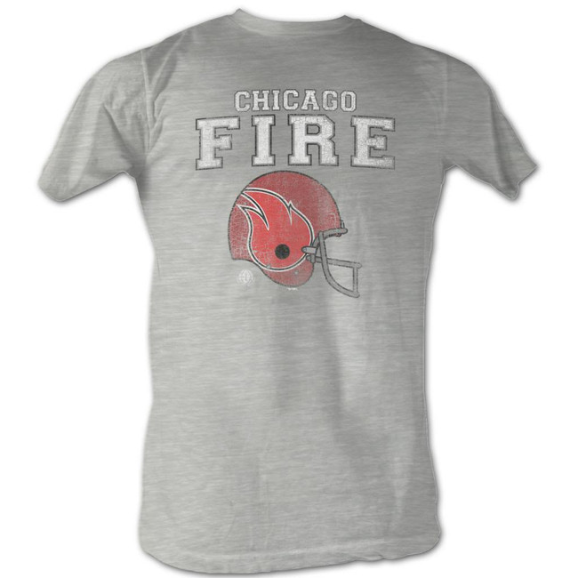 World Football League WFL Fire Gray Heather Adult T-Shirt