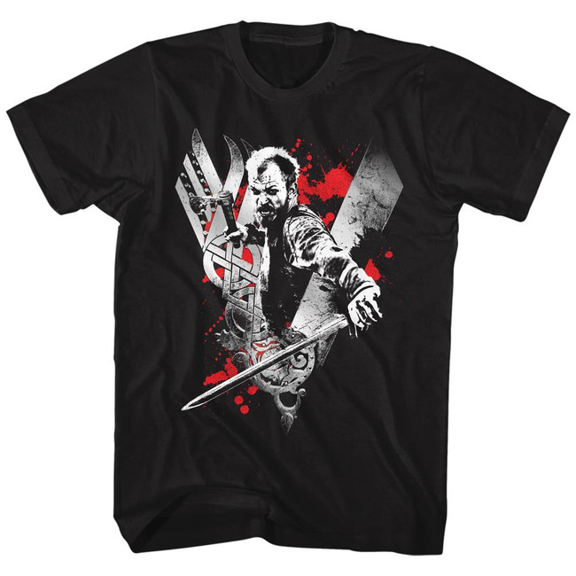 Vikings Floki Black Adult T-Shirt
