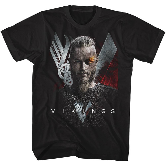 Vikings Vikings Black Adult T-Shirt