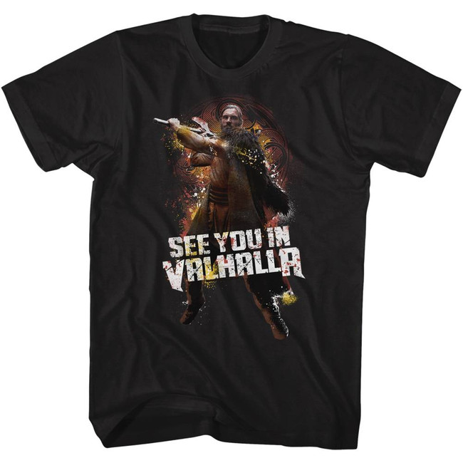 Vikings Valhalla Black Adult T-Shirt