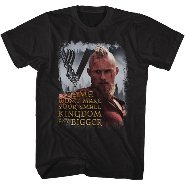 Vikings Bjorn Quote Black Adult T-Shirt
