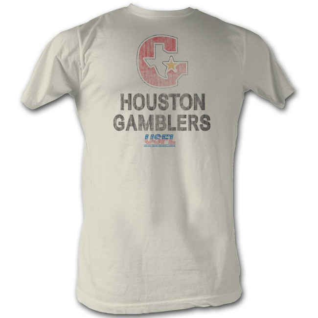 United States Football League USFL Houston Natural Adult T-Shirt