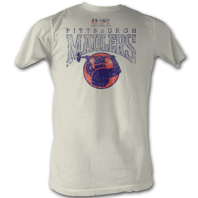 United States Football League USFL Maulers Natural Adult T-Shirt
