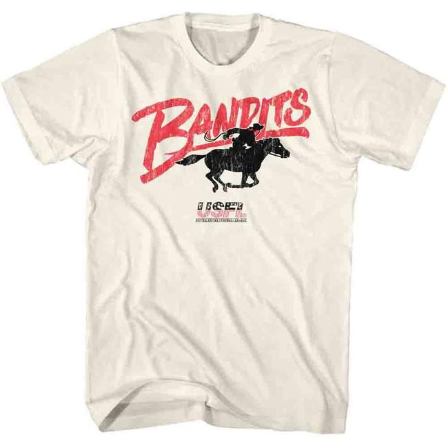 United States Football League USFL Bandits Natural Adult T-Shirt