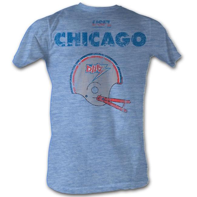 United States Football League USFL Cb Light Blue Heather Adult T-Shirt