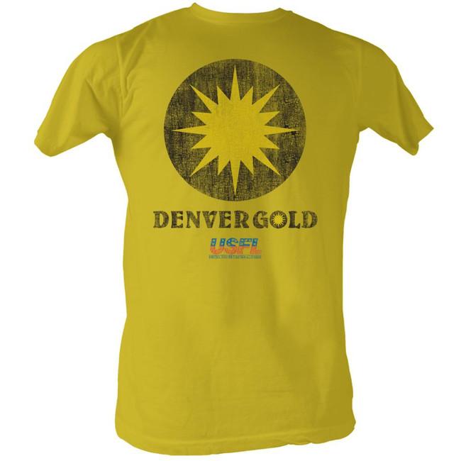 United States Football League USFL Denver Gold Ginger Adult T-Shirt