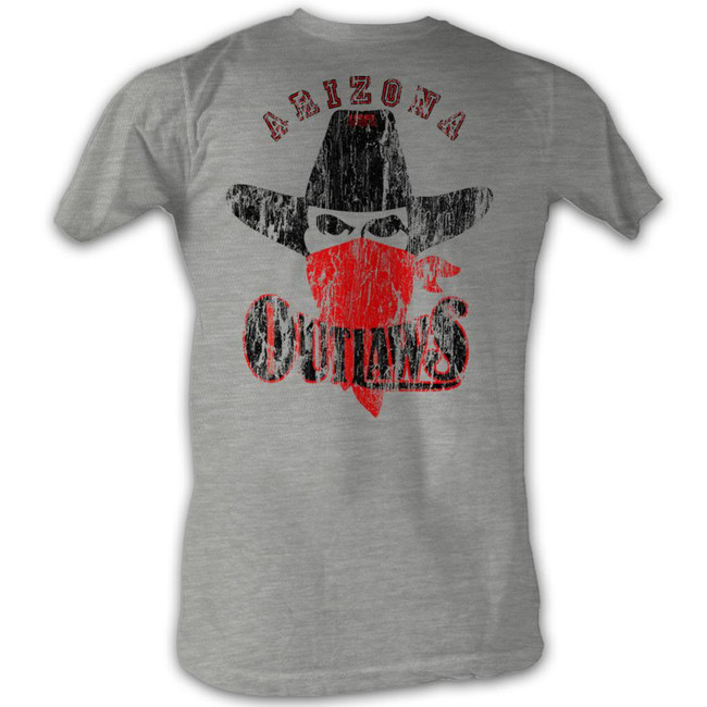 United States Football League USFL Sneaky Outlaw Gray Heather Adult T-Shirt