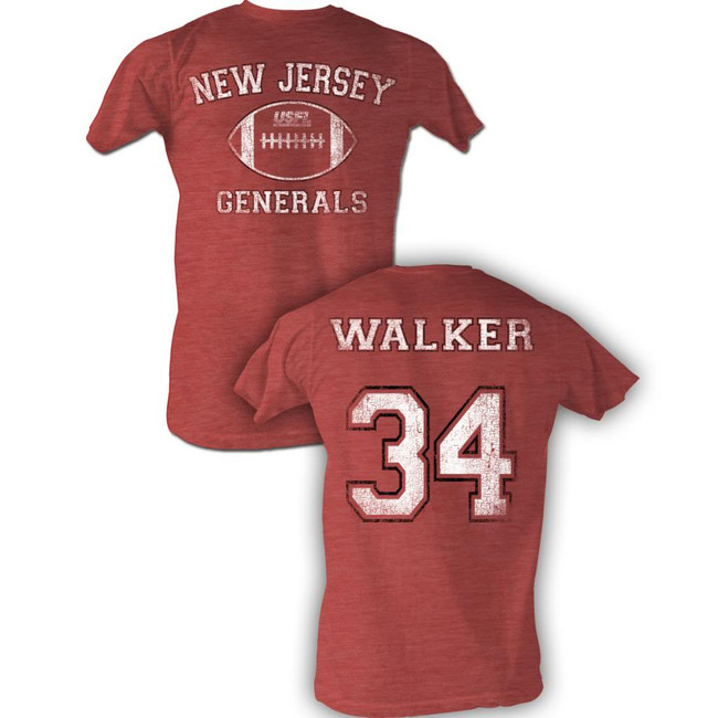 United States Football League USFL Walker Bnw Red Heather Adult T-Shirt