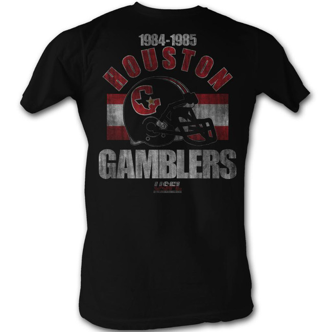 United States Football League USFL Hgh Black Adult T-Shirt