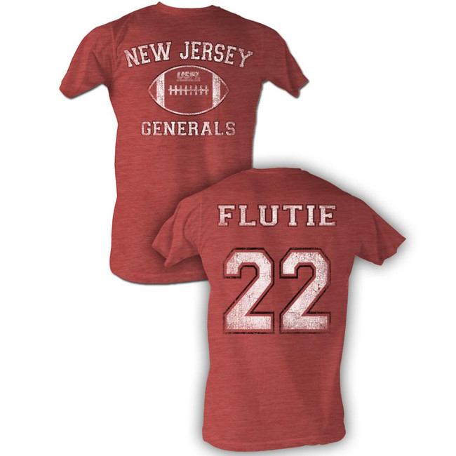United States Football League USFL Flutie Bnw Red Heather Adult T-Shirt
