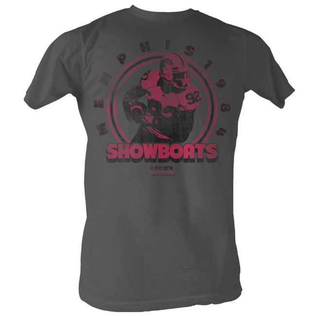 United States Football League USFL The Big Show Smoke Adult T-Shirt