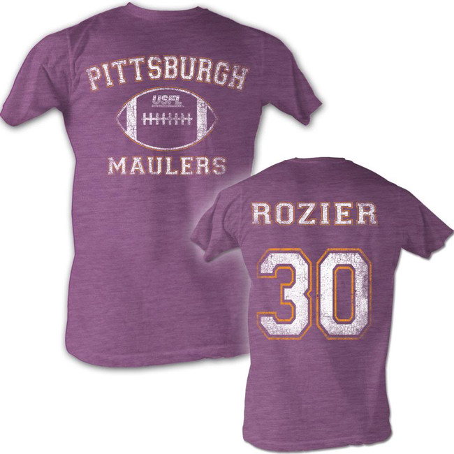 United States Football League USFL Rozier Neon Purple Heather Adult T-Shirt