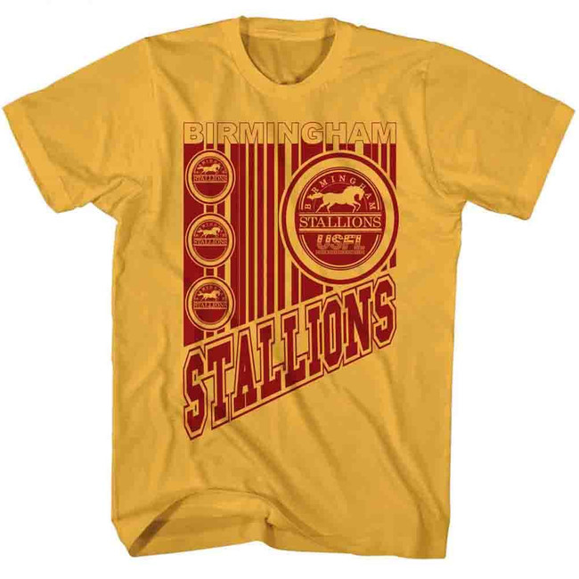 United States Football League USFL Wild Stallions Ginger Adult T-Shirt