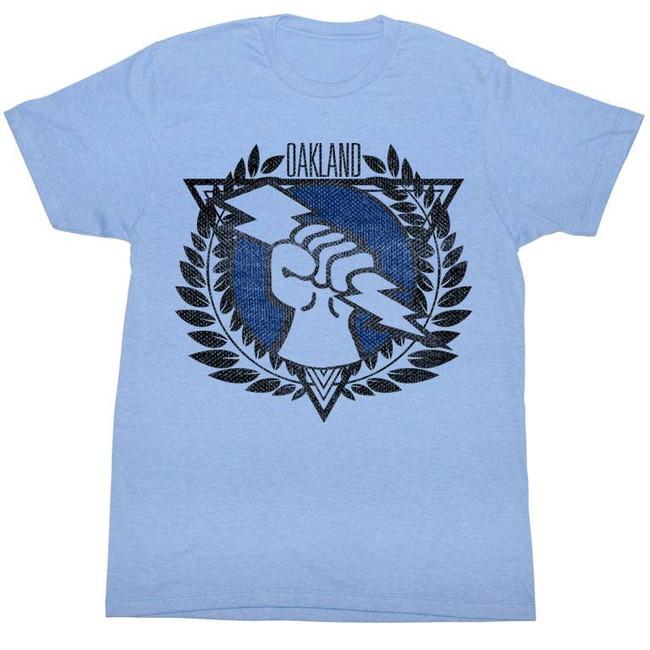 United States Football League USFL Oakland Light Blue Adult T-Shirt
