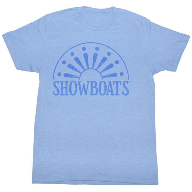 United States Football League USFL Show Jokes Light Blue Heather Adult T-Shirt
