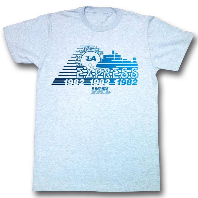 United States Football League USFL Youre Tomorrow Light Blue Adult T-Shirt