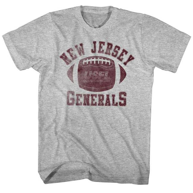 United States Football League USFL Generals Gray Heather Adult T-Shirt