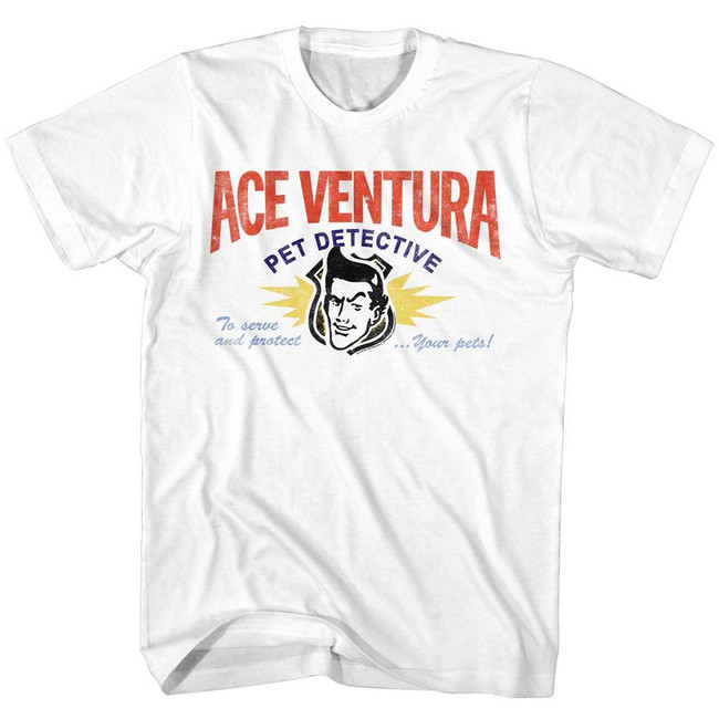 Ace Ventura Card White Adult T-Shirt
