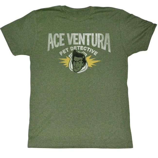 Ace Ventura Pet Detective Green Adult T-Shirt