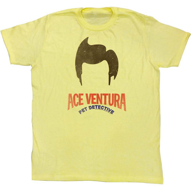 Ace Ventura Hair Yellow Adult T-Shirt