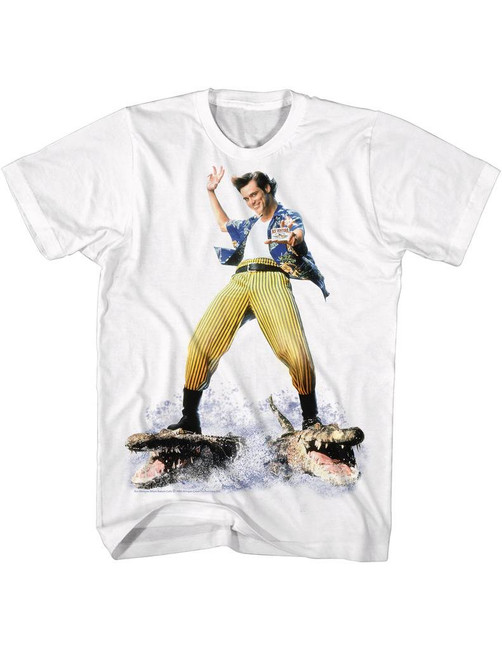 Ace Ventura Croc Surfin' White Adult T-Shirt