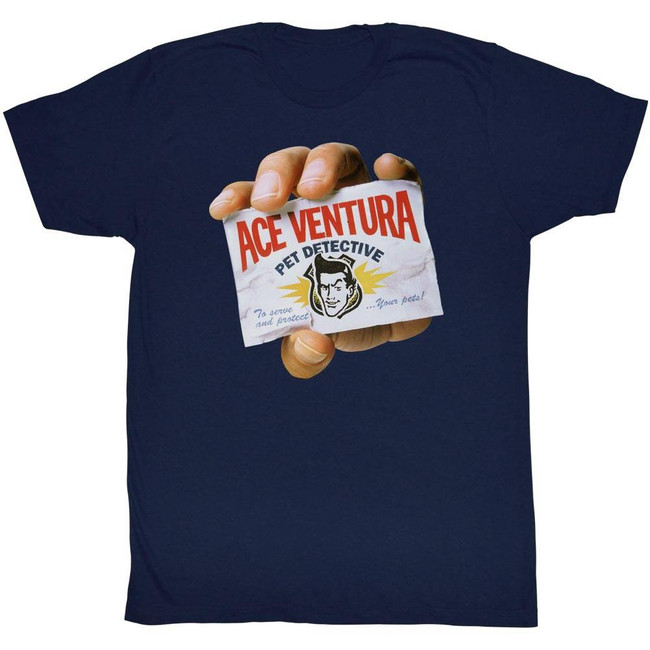 Ace Ventura Hand Navy Adult T-Shirt