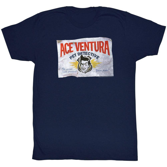 Ace Ventura Business Navy Adult T-Shirt