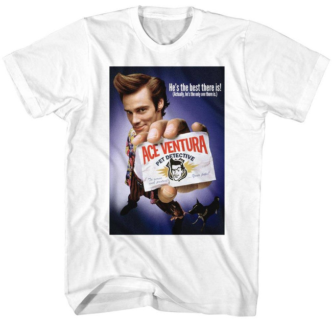 Ace Ventura Movie Poster White Adult T-Shirt