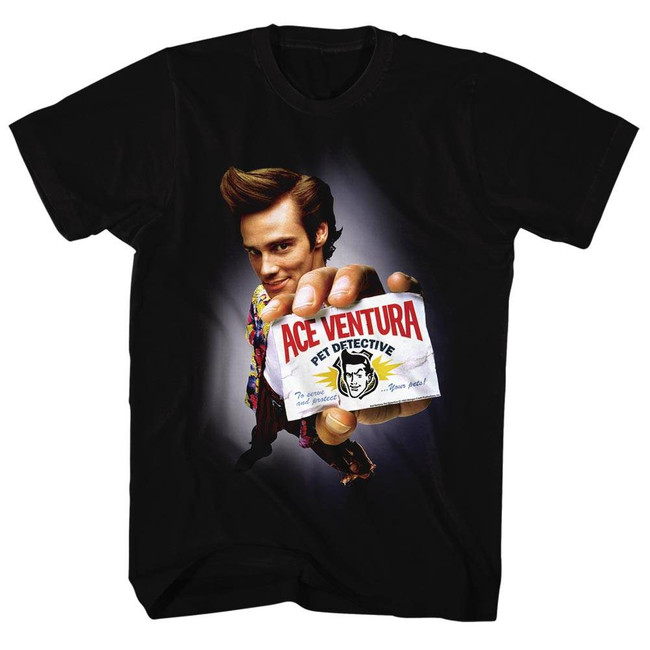 Ace Ventura Movie Black Adult T-Shirt