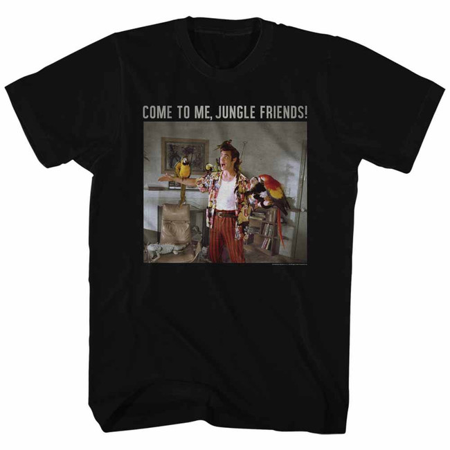 Ace Ventura Jungle Friends Black Adult T-Shirt