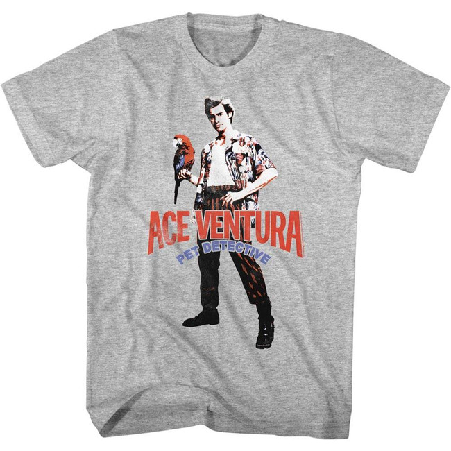 Ace Ventura Pet Detective Heather Adult T-Shirt