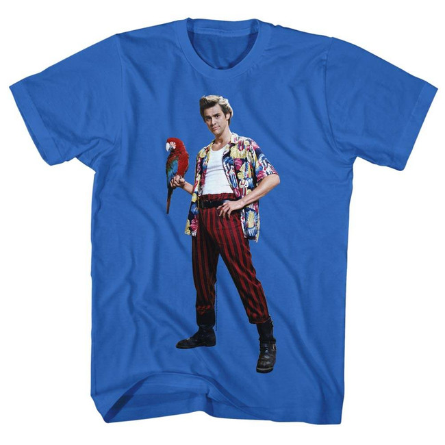 Ace Ventura Parrot Blue Adult T-Shirt