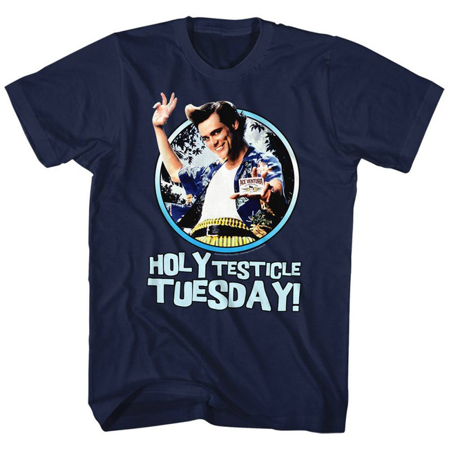 Ace Ventura Tuesday Navy Adult T-Shirt