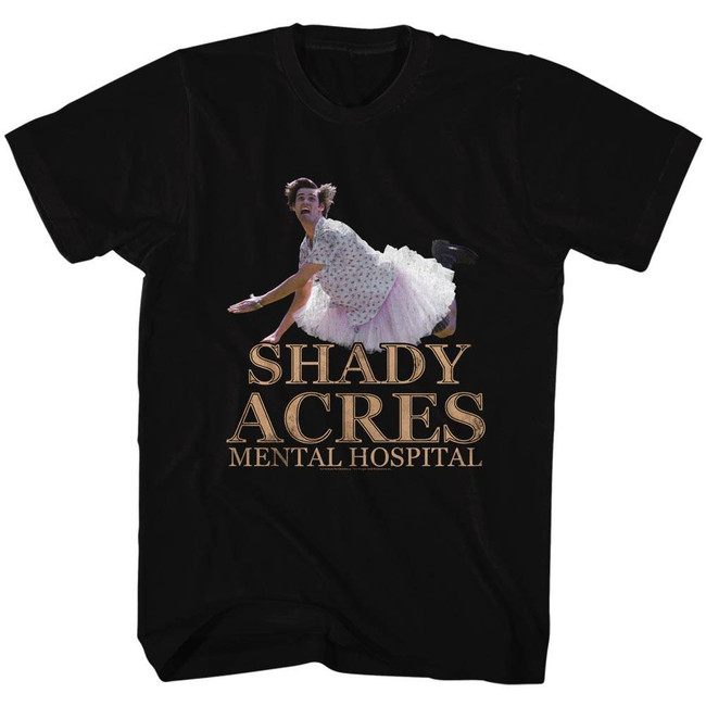 Ace Ventura Shady Acres Black Adult T-Shirt