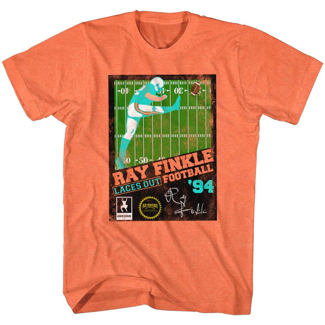 Ace Ventura Ray Finkle Football Orange Adult T-Shirt