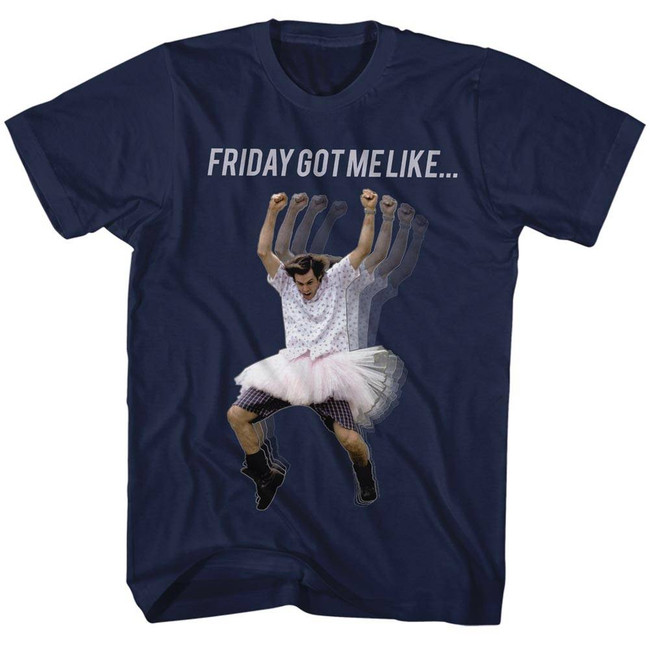 Ace Ventura Friday Got Me Like Navy Adult T-Shirt