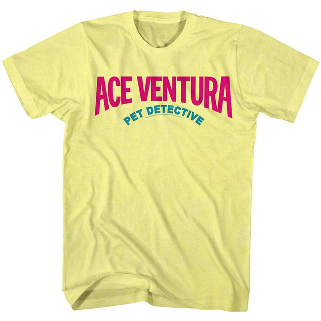 Ace Ventura Logo Yellow Adult T-Shirt