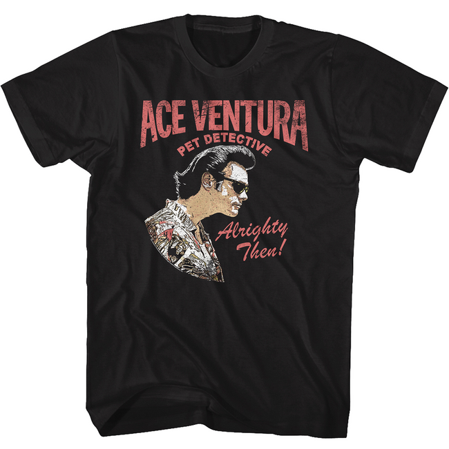 Ace Ventura Profile Black Adult T-Shirt