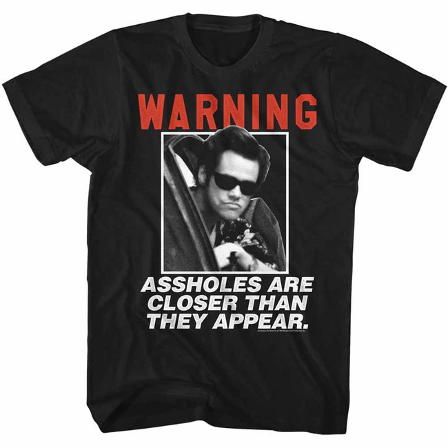 Ace Ventura Acehole Black Adult T-Shirt