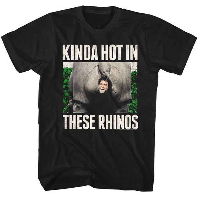 Ace Ventura Rhinos Black Adult T-Shirt