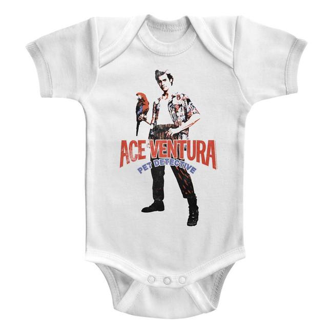 Ace Ventura Pet Detective White Baby Onesie T-Shirt