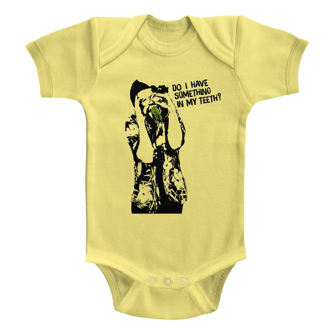 Ace Ventura Something In My Teeth Yellow Baby Onesie T-Shirt