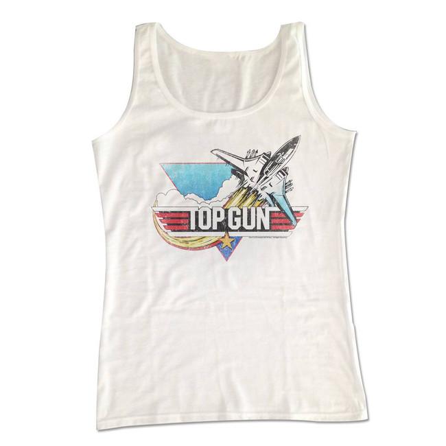 Top Gun Fade White Adult Tank Top