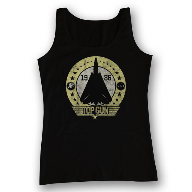 Top Gun Stars And Such Black Adult Tank Top