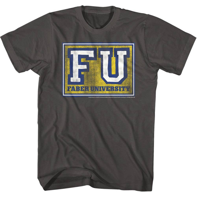 Animal House Faber University Grey Adult T-Shirt