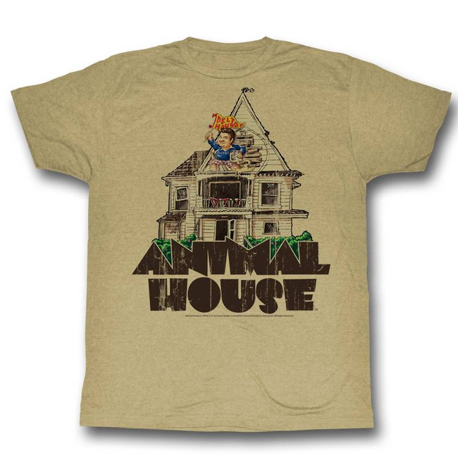 Animal House Flag Flyer Khaki Adult T-Shirt