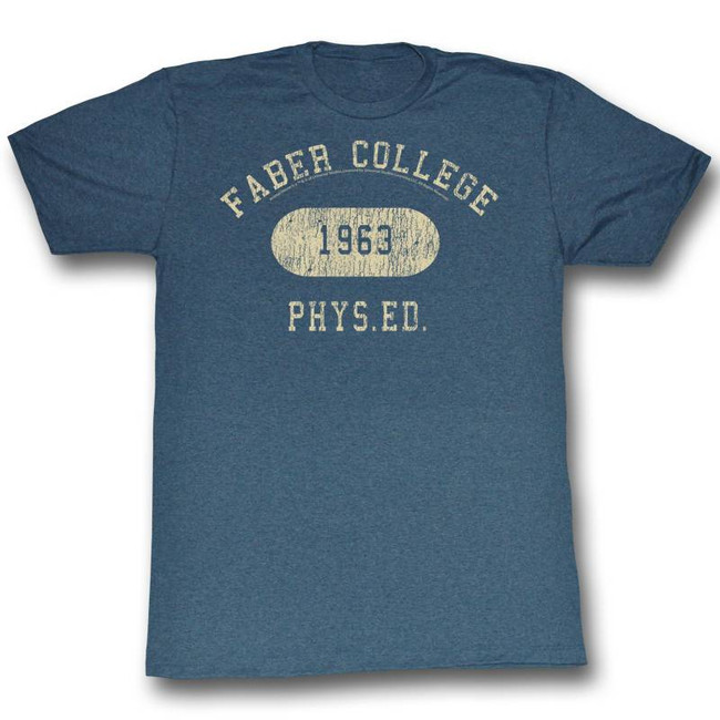 Animal House Faber Phys Ed Navy Adult T-Shirt