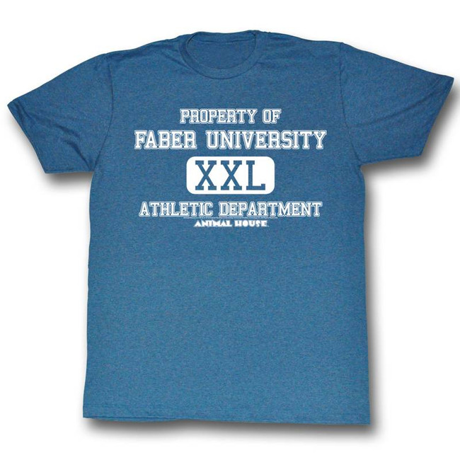 Animal House Athletic Department Blue Adult T-Shirt